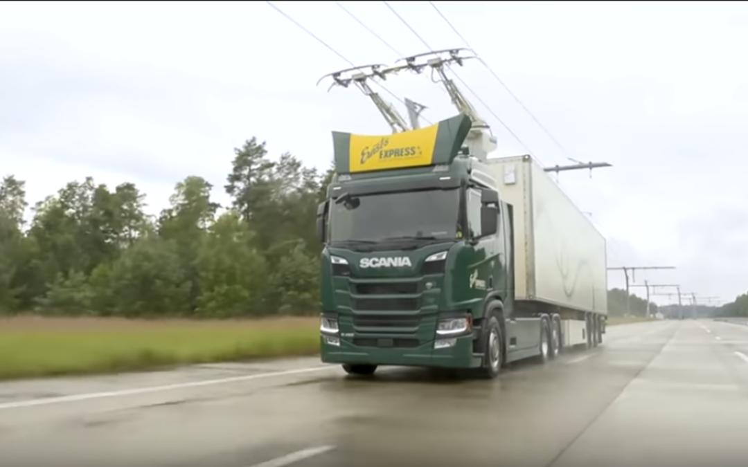Autoroute électrique camions